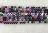 CAA2030 15.5 inches 4mm round banded agate gemstone beads