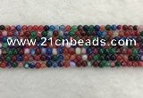 CAA2040 15.5 inches 4mm round banded agate gemstone beads