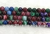 CAA2045 15.5 inches 14mm round banded agate gemstone beads