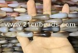 CAA2063 15.5 inches 10*30mm teardrop agate beads wholesale