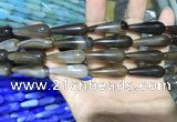 CAA2064 15.5 inches 10*30mm teardrop agate beads wholesale