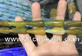 CAA2069 15.5 inches 10*30mm teardrop agate beads wholesale