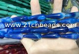 CAA2076 15.5 inches 10*30mm teardrop agate beads wholesale