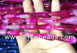 CAA2097 15.5 inches 10*30mm faceted teardrop agate beads