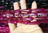 CAA2098 15.5 inches 10*30mm faceted teardrop agate beads