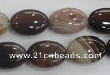 CAA211 15.5 inches 13*18mm oval madagascar agate beads