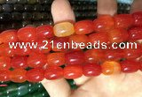CAA2118 15.5 inches 10*14mm drum agate beads wholesale