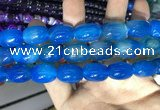 CAA2132 15.5 inches 13*18mm drum agate beads wholesale