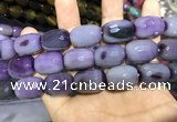 CAA2152 15.5 inches 15*20mm faceted drum agate beads wholesale