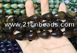 CAA2161 15.5 inches 15*20mm faceted teardrop agate beads