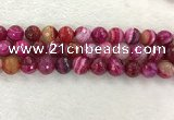 CAA2223 15.5 inches 14mm faceted round banded agate beads