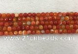 CAA2226 15.5 inches 6mm faceted round banded agate beads