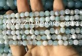 CAA2240 15.5 inches 6mm faceted round banded agate beads