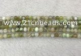 CAA2308 15.5 inches 4mm round banded agate gemstone beads