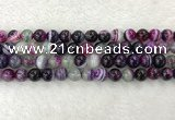 CAA2323 15.5 inches 10mm round banded agate gemstone beads