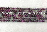 CAA2329 15.5 inches 4mm round banded agate gemstone beads