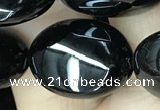 CAA2540 15.5 inches 13*18mm oval black agate beads wholesale