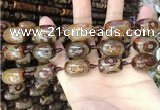 CAA2666 15.5 inches 14*21mm - 16*22mm drum tibetan agate dzi beads