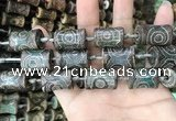 CAA2681 15.5 inches 12*18mm - 13*24mm bone tibetan agate dzi beads