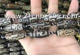 CAA2689 15.5 inches 12*30mm - 14*30mm rice tibetan agate dzi beads