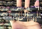 CAA2694 15.5 inches 14*38mm - 16*43mm rice tibetan agate dzi beads