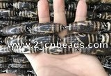CAA2716 15.5 inches 14*38mm - 16*43mm rice tibetan agate dzi beads