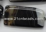 CAA274 15.5 inches 25*50mm rectangle black line agate beads