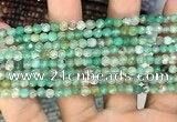 CAA2802 15 inches 4mm faceted round fire crackle agate beads wholesale