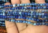 CAA2828 15 inches 4mm faceted round fire crackle agate beads wholesale