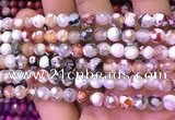 CAA2900 15 inches 6mm faceted round fire crackle agate beads wholesale