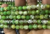 CAA2917 15 inches 6mm faceted round fire crackle agate beads wholesale