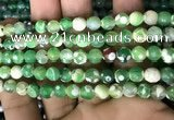 CAA2922 15 inches 6mm faceted round fire crackle agate beads wholesale