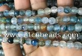 CAA2926 15 inches 6mm faceted round fire crackle agate beads wholesale