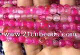 CAA2931 15 inches 6mm faceted round fire crackle agate beads wholesale