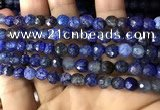 CAA2932 15 inches 6mm faceted round fire crackle agate beads wholesale