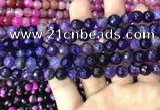 CAA2963 15 inches 8mm faceted round fire crackle agate beads wholesale