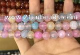 CAA3058 15 inches 10mm faceted round fire crackle agate beads wholesale