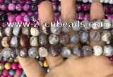 CAA3061 15 inches 10mm faceted round fire crackle agate beads wholesale
