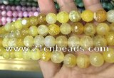 CAA3067 15 inches 10mm faceted round fire crackle agate beads wholesale