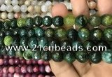 CAA3080 15 inches 10mm faceted round fire crackle agate beads wholesale