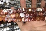 CAA3233 15 inches 16mm faceted round fire crackle agate beads wholesale