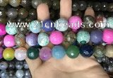 CAA3240 15 inches 16mm faceted round fire crackle agate beads wholesale