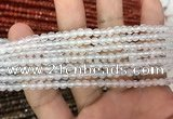 CAA3260 15 inches 4mm faceted round agate beads wholesale