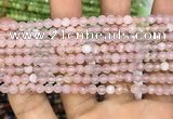 CAA3261 15 inches 4mm faceted round agate beads wholesale