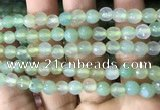 CAA3306 15 inches 6mm faceted round agate beads wholesale