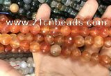 CAA3368 15 inches 10mm faceted round agate beads wholesale