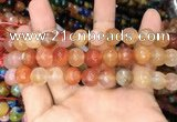CAA3371 15 inches 10mm faceted round agate beads wholesale