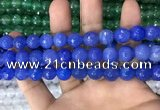 CAA3376 15 inches 10mm faceted round agate beads wholesale