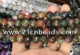 CAA3382 15 inches 10mm faceted round agate beads wholesale