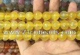 CAA3397 15 inches 12mm faceted round agate beads wholesale
